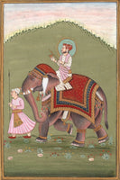 Mughal Empire Miniature Painting Handmade Indian Moghul Emperor Ethnic Decor Art