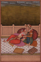 Mughal Miniature Painting Moghul Empire India Handmade Ethnic Romance Love Art