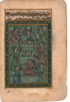 Mughal Miniature Painting Handmade Emperor Akbar Moghul Dynasty Indian Artwork