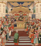 Mughal Miniature Painting Handmade Moghul Empire Art Delhi Durbar of Akbar II
