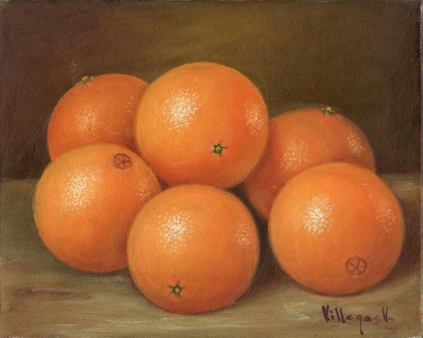 Peruvian Orange Painting Handmade South American Acrylic Canvas Nature Artwork