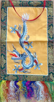 Embroidered Dragon Art Indian Textile Animal Wall Hanging Ethnic Decor Artwork