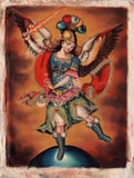 Archangel San Miguel Peruvian Cuzco Art Handmade Canvas Oil St Michael Painting