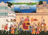 Rajasthan Procession Painting