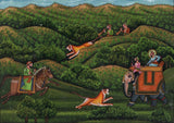 Mughal Hunt Painting