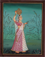 Ragamala Ragini Indian Miniature Painting Rajasthani Ethnic Handmade Folk Art