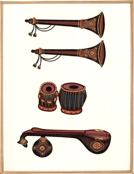 Indian Musical Instruments Art