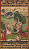 Indian Bundi Maharajah Painting Handmade  Rajasthani Miniature Decor Folk Art