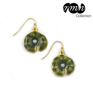 Monet Lily Pad Drop Earrings
