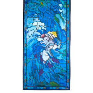 Stained Glass Landscape Scarf