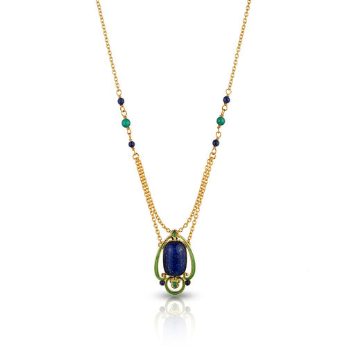 Ada Arts & Crafts Lapis Pendant Necklace