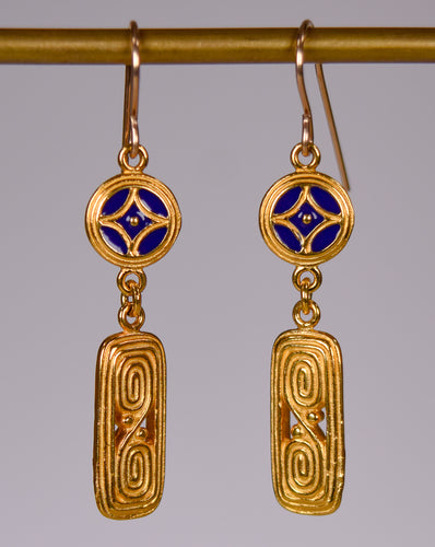 Ada Arts and Crafts Drop Earrings