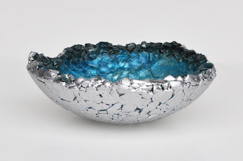 Atlantic Rim  Reclaimed Glass Bowl