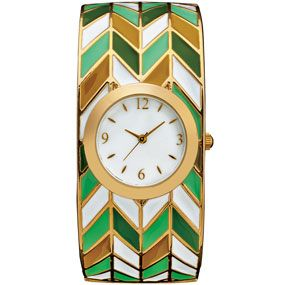 Chevron Motif Bangle Watch