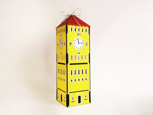 Clock Tower Paper Gift Box