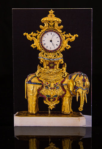 Elephant with Clock Postcard