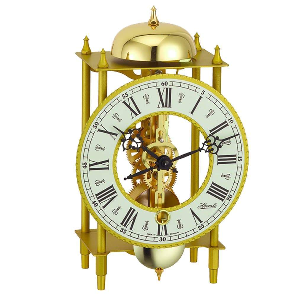 Hermle Mechanical Skeleton Brass Mantel Clock