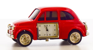 Red Car Miniature Clock