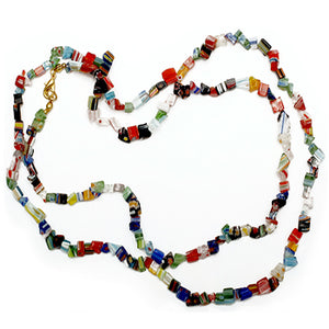 Mosaic Glass Chip Necklace