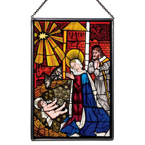 Nativity Stained Glass Panel