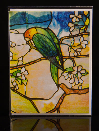 Tiffany Parrots (Right Panel) Notecard