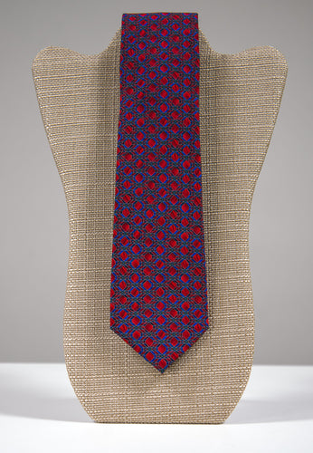 Red Mosaic Pattern Tie