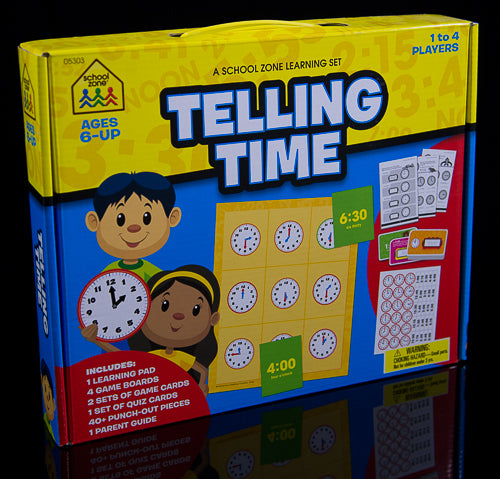 School Zone Learning Set Telling Time