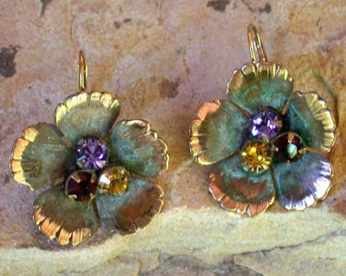 Sculptural Flower Earrings