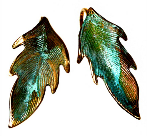 Leaf Brass Earrings