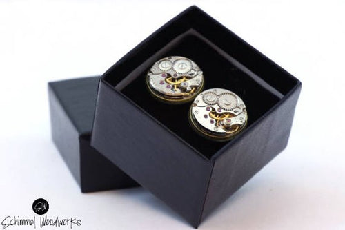 Thick Bezel Brass Watch Parts Cufflinks