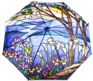 Tiffany Stained Glass Landscape Umbrella