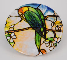 Tiffany Parrots Mirror
