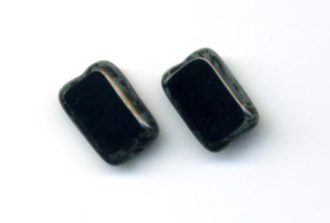 Trilogy Black Stud Earrings
