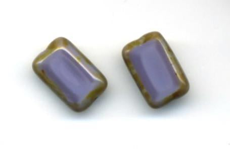 Trilogy Purple Stud Earrings