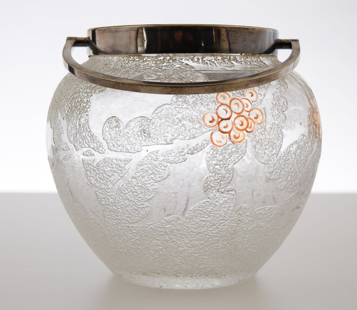 Victorian  Art Glass Biscuit Jar