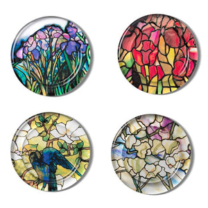 L.C. Tiffany Stained Glass Coasters