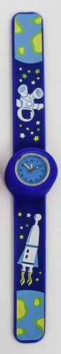 Blue Snap on Watch with Stars and Astronaut