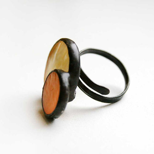 Yellow Stained Glass Ring