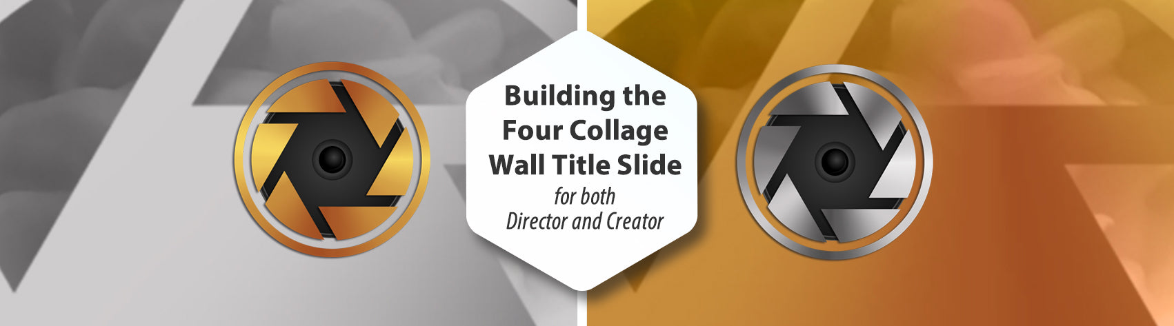 Building the Four Collage Wall Title Slide