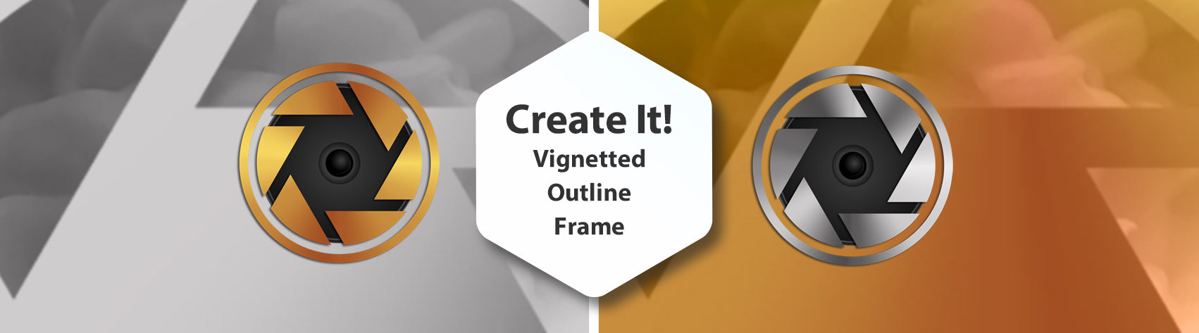 Create It - Vignetted Outline Frame
