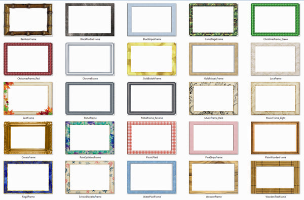 Starter frames and backgrounds add on pack choice slides for 52 reasons why i love you template powerpoint