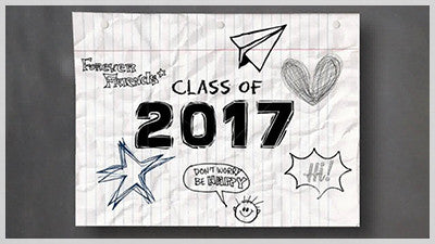 Class of 2017 Crumpled Paper Video Background