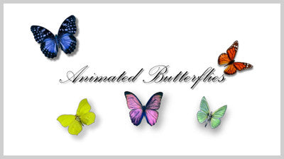 Animated Butterflies Slide Style Pack