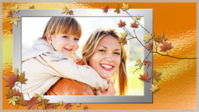 Autumn Leaves Frame Slide Style