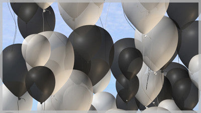 Balloons Black and White