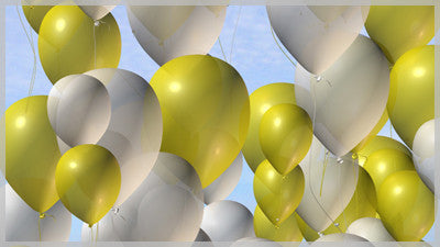 Balloons Gold and White