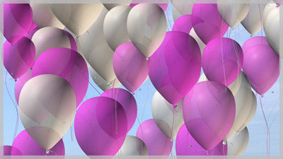 Balloons Pink and White