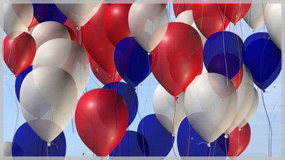 Balloons Red White and Blue