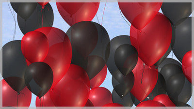 Balloons Black and Red
