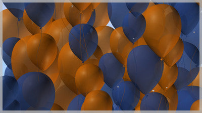 Balloons Blue and Orange